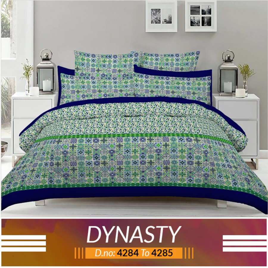 3 piece King Size Bed sheet  ( D.no:4284 to 4285 )