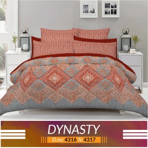 3 piece King Size Bed sheet  ( D.no:4316 to 4317 )