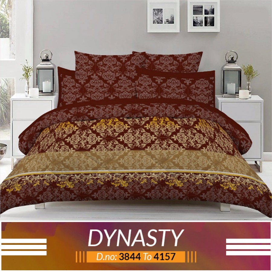 3 piece King Size Bed sheet  ( D.no:3844 to 4157 )