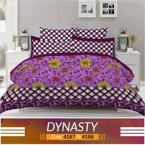 3 piece King Size Bed sheet  ( D.no:4187 to 4188 )