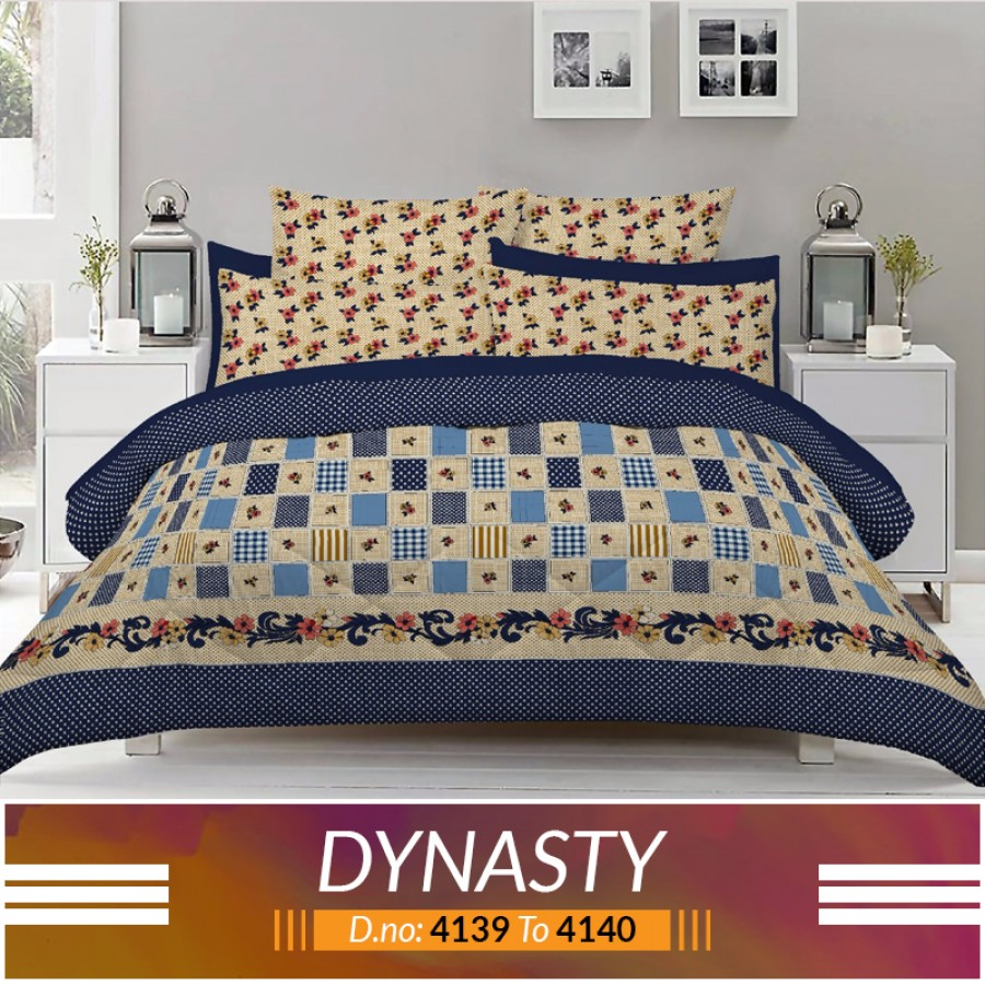 3 piece King Size Bed sheet  ( D.no:4139 to 4140 )