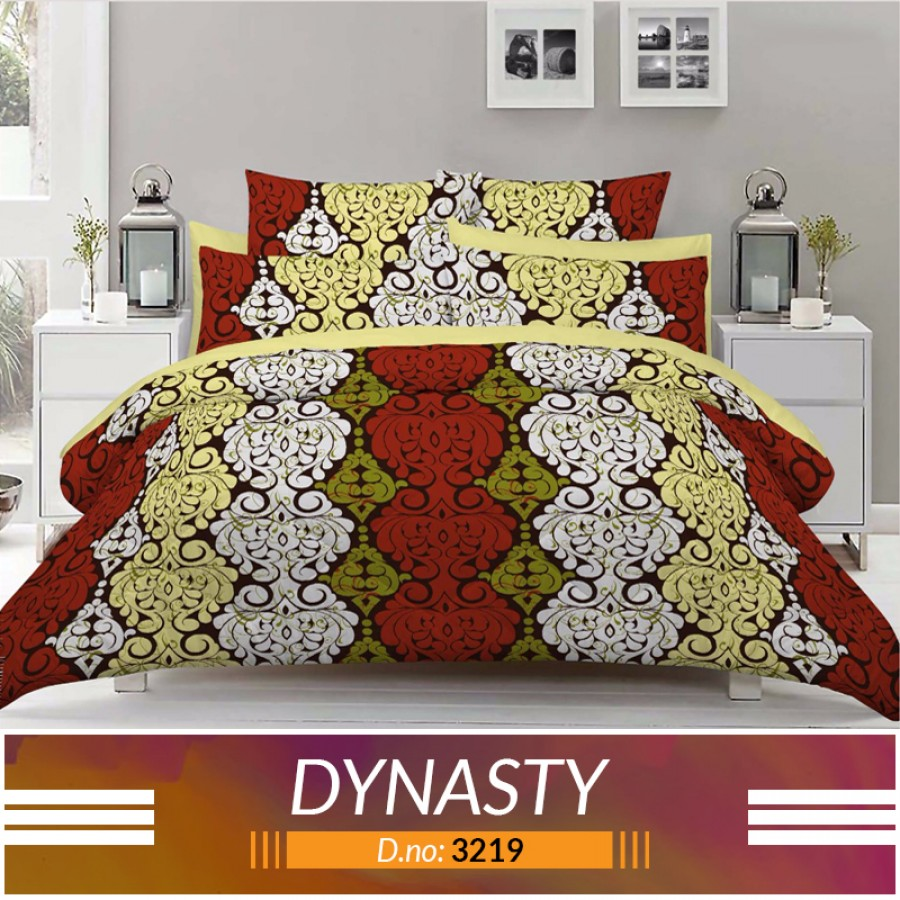 3 piece King Size Bed sheet  ( D.no:3219 )