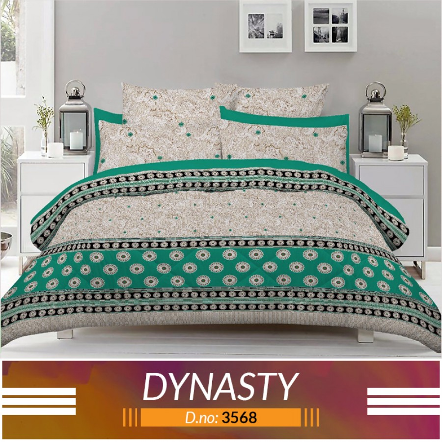 3 piece King Size Bed sheet  ( D.no:3568 )