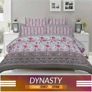3 piece King Size Bed sheet  ( D.no:3987 to 3988 )