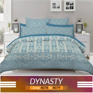 3 piece King Size Bed sheet  ( D.no:4078 to 4079 )