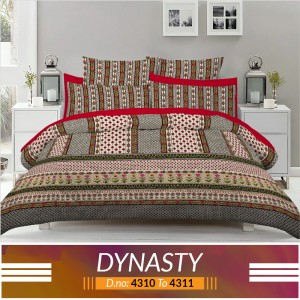 3 piece King Size Bed sheet  ( D.no:4310 to 4311 )