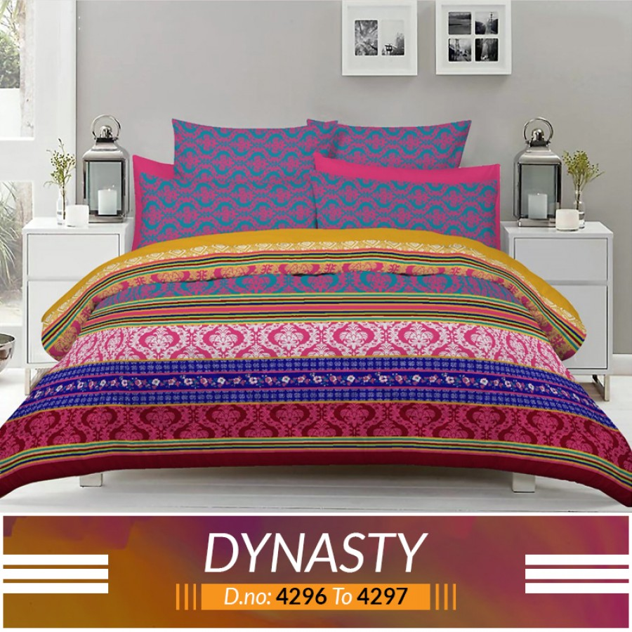 3 piece King Size Bed sheet  ( D.no:4296 to 4297 )