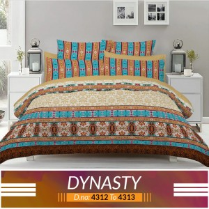 3 piece King Size Bed sheet  ( D.no:4312 to 4313 )