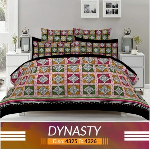 3 piece King Size Bed sheet  ( D.no:4325 to 4326 )