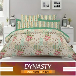3 piece King Size Bed sheet  ( D.no:4308 to 4309 )