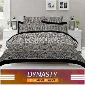 3 piece King Size Bed sheet  ( D.no:4298 to 4299 )