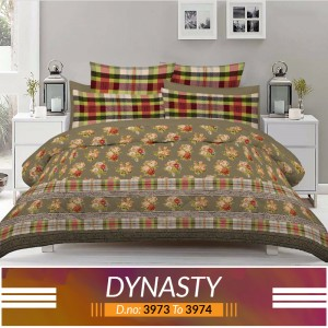 3 piece King Size Bed sheet  ( D.no:3973 to 3974 )