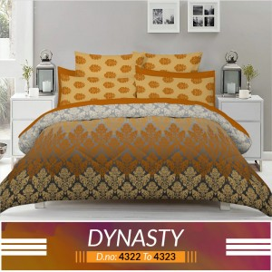 3 piece King Size Bed sheet  ( D.no:4322 to 4323 )