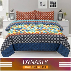 3 piece King Size Bed sheet  ( D.no:4193 to 4194)