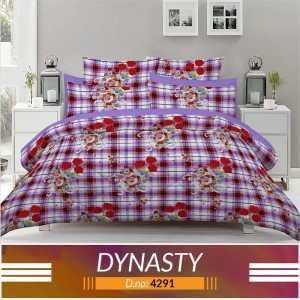 3 piece King Size Bed sheet  ( D.no:4291)