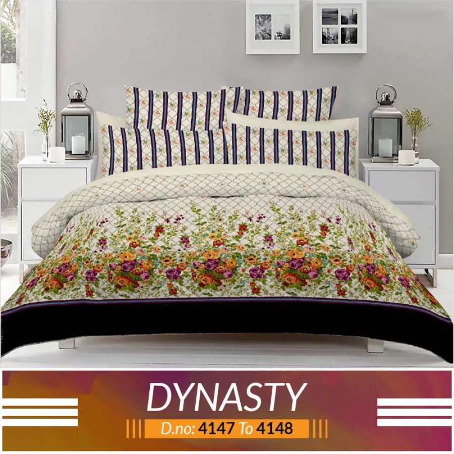 3 piece King Size Bed sheet  ( D.no:4147 to 4148)