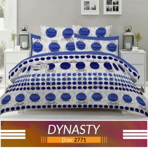 3 piece King Size Bed sheet  ( D.no:2771)