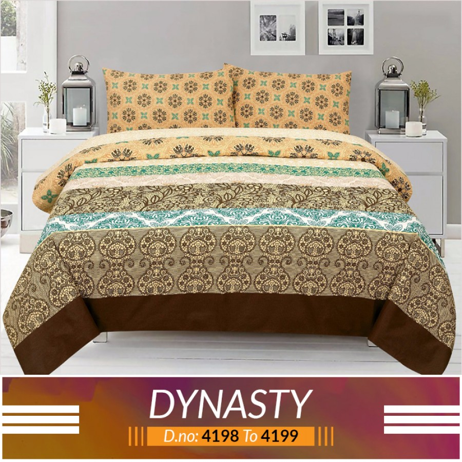 3 piece King Size Bed sheet  ( D.no:4198 to 4199)