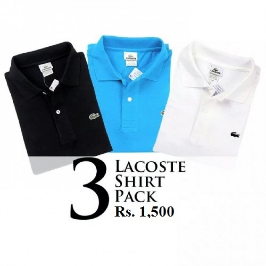 Pack of 3 Lacoste POLO T-Shirts