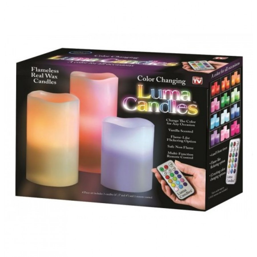 LUMA CANDLE - PACK OF 3