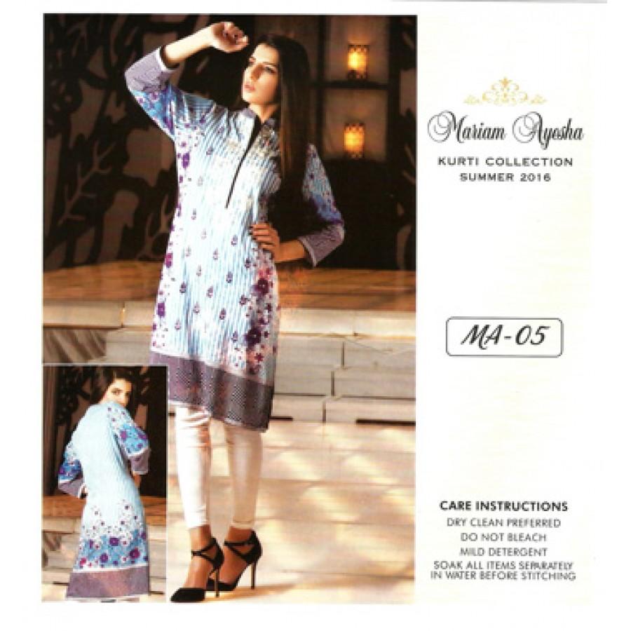Mariam Ayesha Embroidered Kurti Collection 2016 Design 5