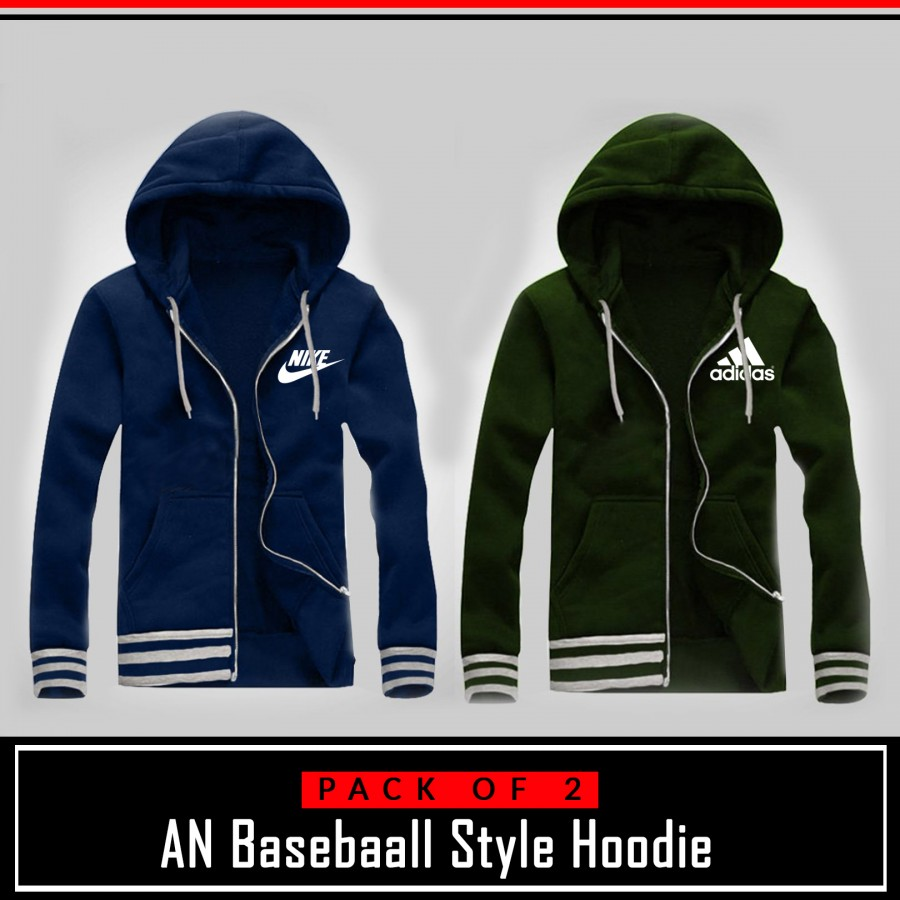 Pack of 2 AN Base Ball Style Hoodie
