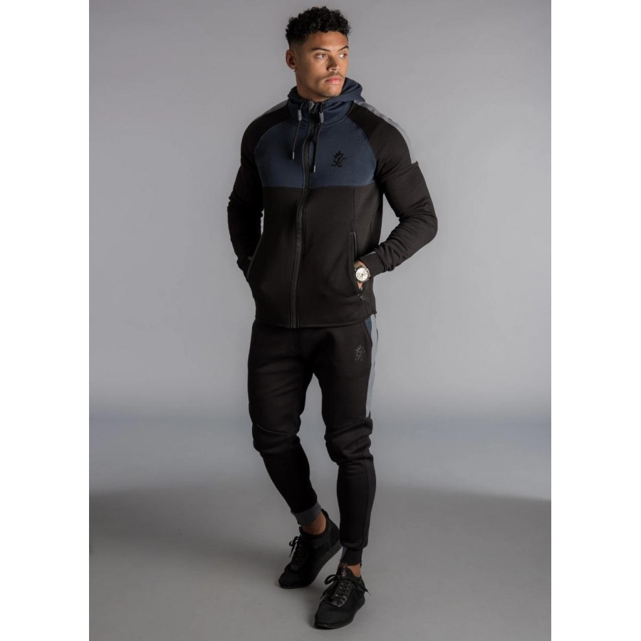 Black GK Multicolour Fleece Winter Designer 2020 Track Suit With Jacket And Trouser For Men - Design 5