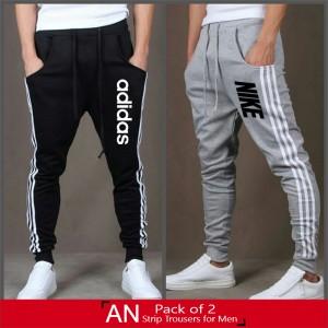 Pack of 2 AR Strip Trouser for Men