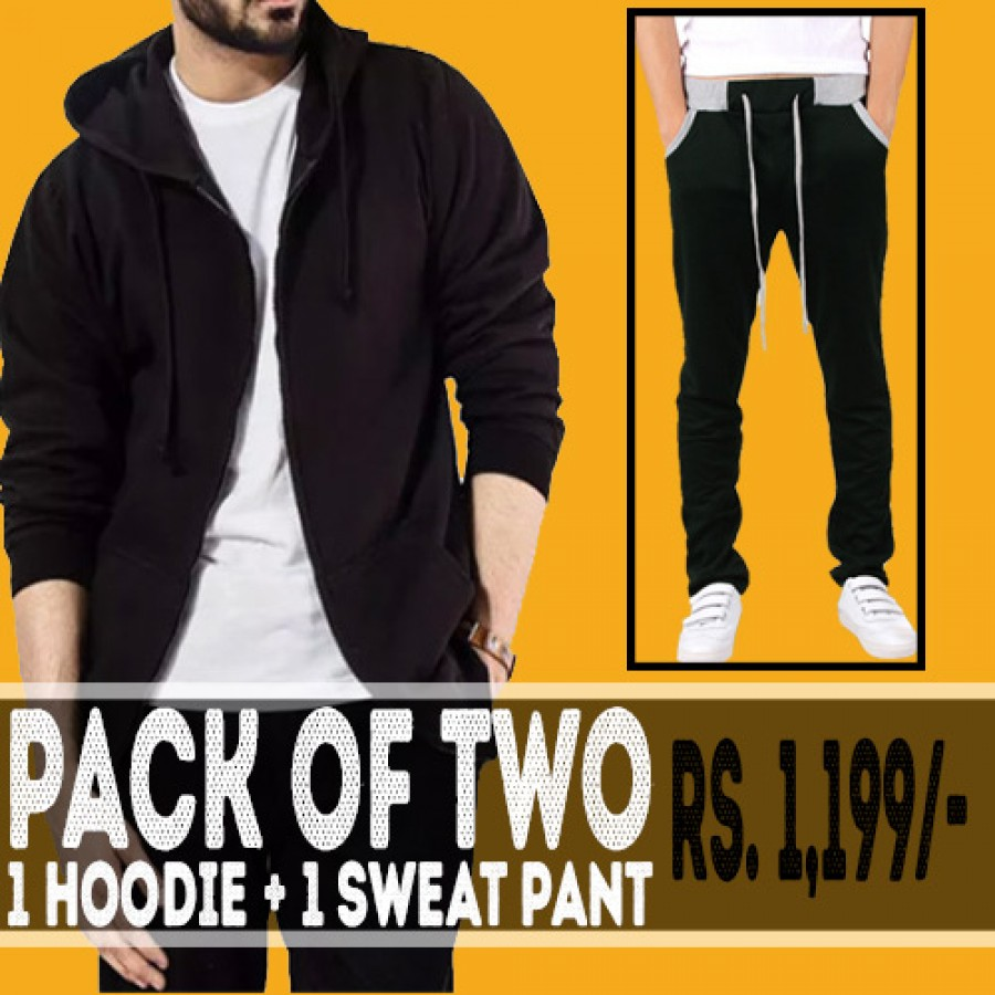 Pack of 2 (1 Hoodie and 1 Sweat Pant)