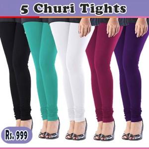 Pack of 5 Churidar Tights