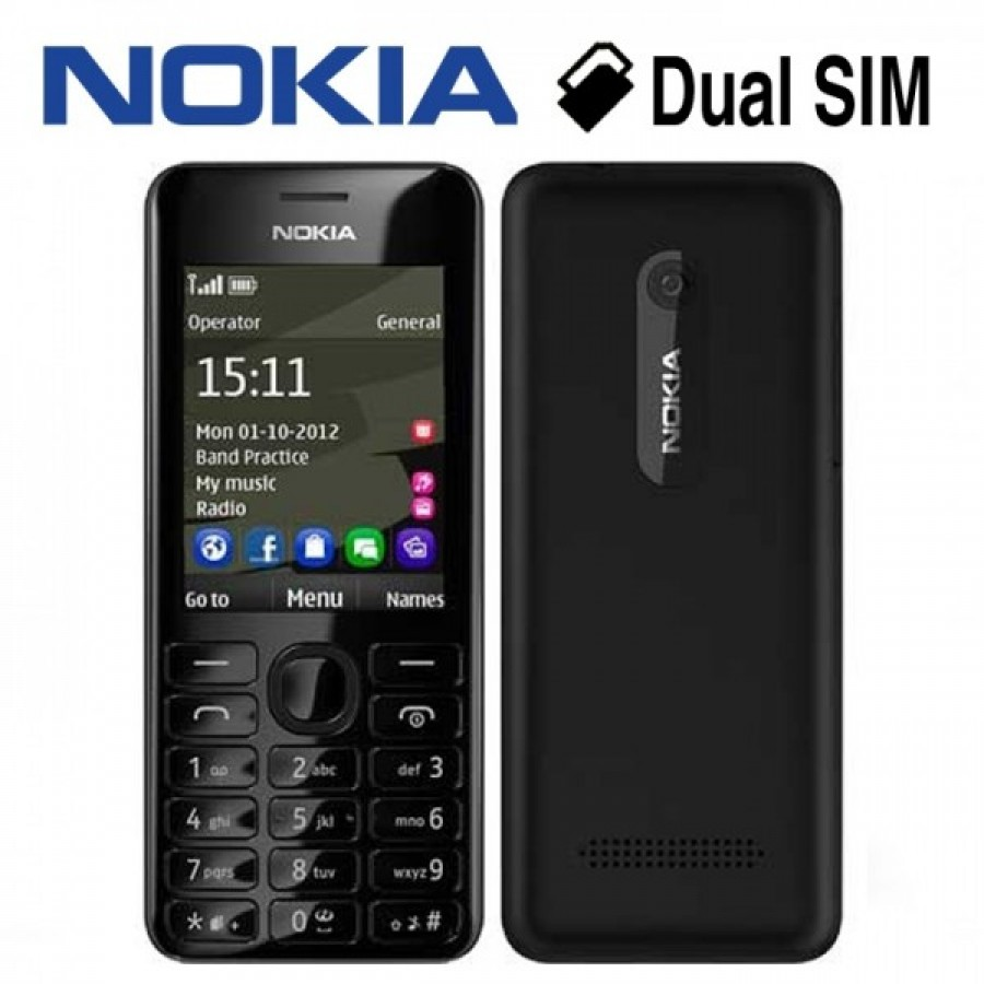 NOKIA 206 DUAL SIM ONLY FOR 4000/=