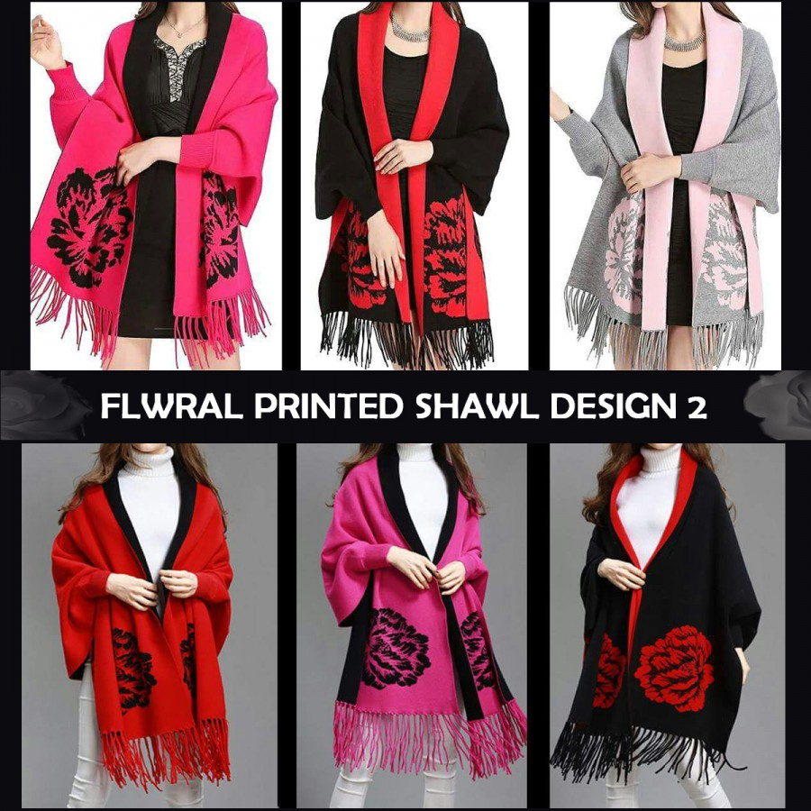 Buy 1 get 1 free Floral Printed Shawl Design 2