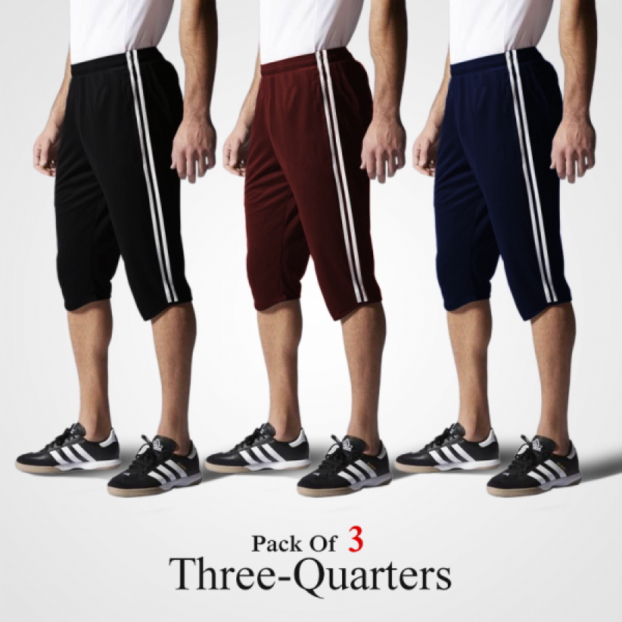 Pack of 3 Three Quarters
