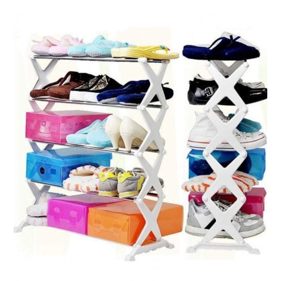 Portable 5 Tier Shoe Rack Shelf