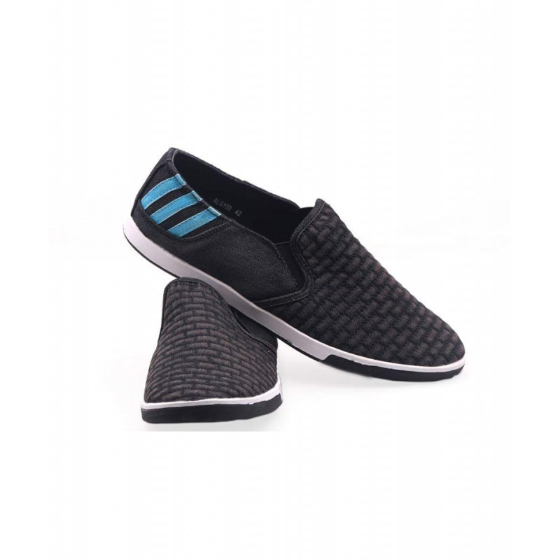 Adidas Black Suede Back Striped Loafer Shoes AD1