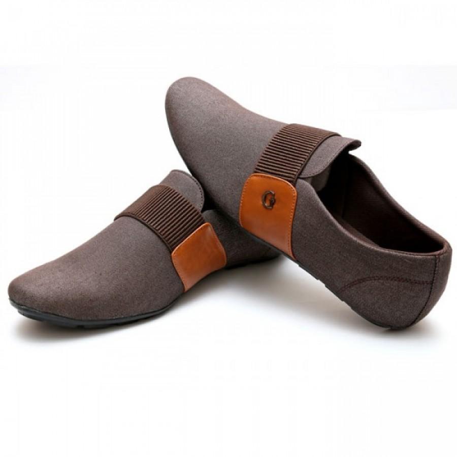 Giorgio Armani Brown Band Stylish Design Loafer Shoes G3