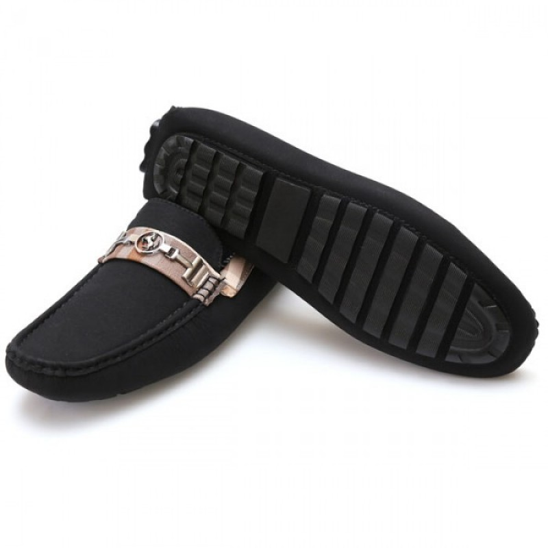 ddcd5ea3d94 Home · Men s Footwear · Ferrari Half Checkered Black Stylish Design Loafer  F5. Sale