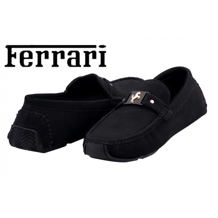 Ferrari Men Black Shoes F6