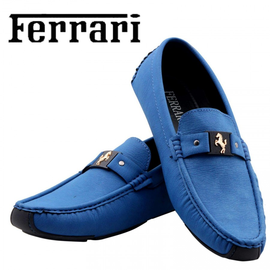 Ferrari Men Blue Shoes F8