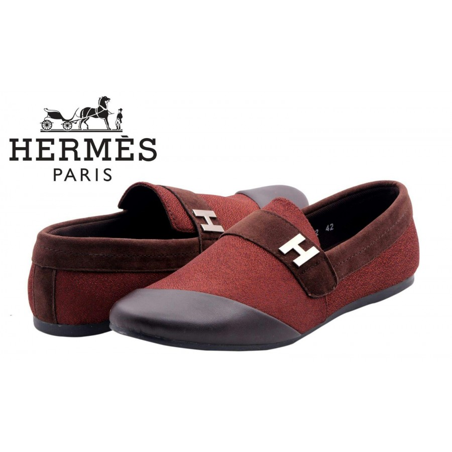 Hermes Paris Men Red Shoes H4