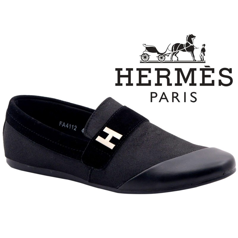 32dbc7573d0 Men s Footwear   Hermes Paris Men Black Shoes H6