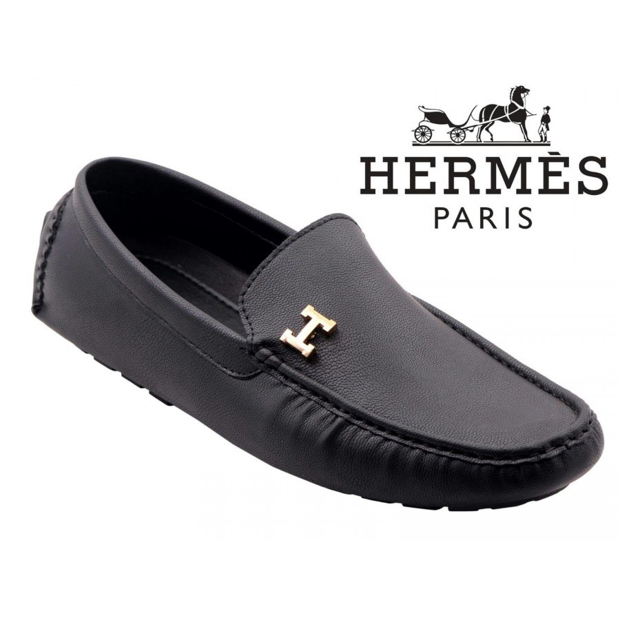 Hermes Paris Men Black Shoes H9
