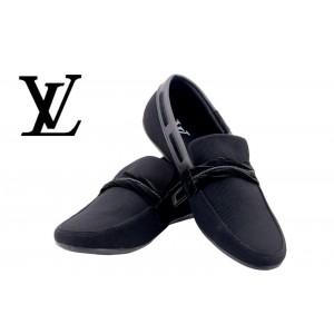 Louis Vuitton Men Black Shoes LV3