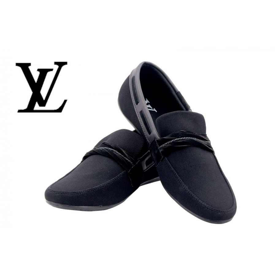 Louis Vuitton Men Black Shoes LV3