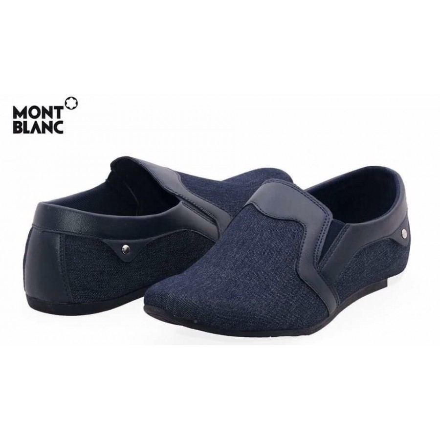 Montblanc Craft Stye Blue Decent Design Loafer Shoes M1