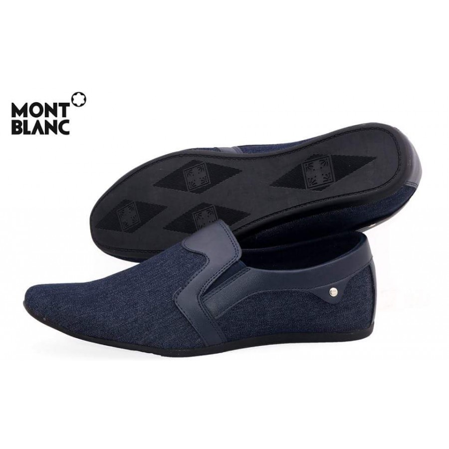 Montblanc Craft Stye Blue Decent Design Loafer Shoes M1