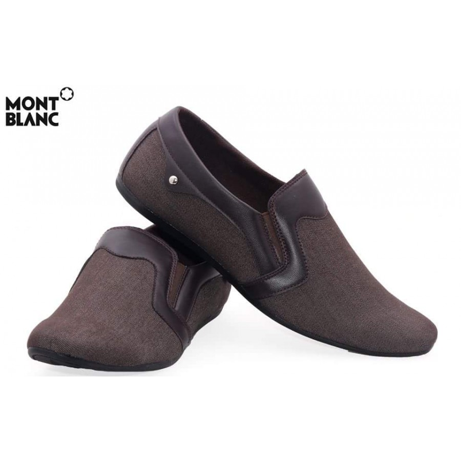 Montblanc Craft Stye Brown Decent Design Loafer Shoes M2