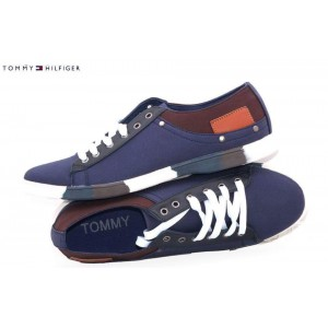Tommy Stylish Blue Laced-Up Shoes T3