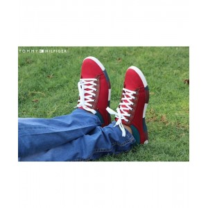 Tommy Stylish Red Laced-Up Shoes T5