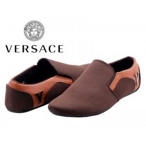 Versace Men Brown Shoes V6